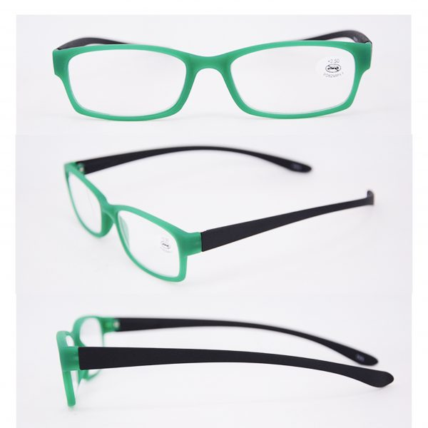 green black reading glasses