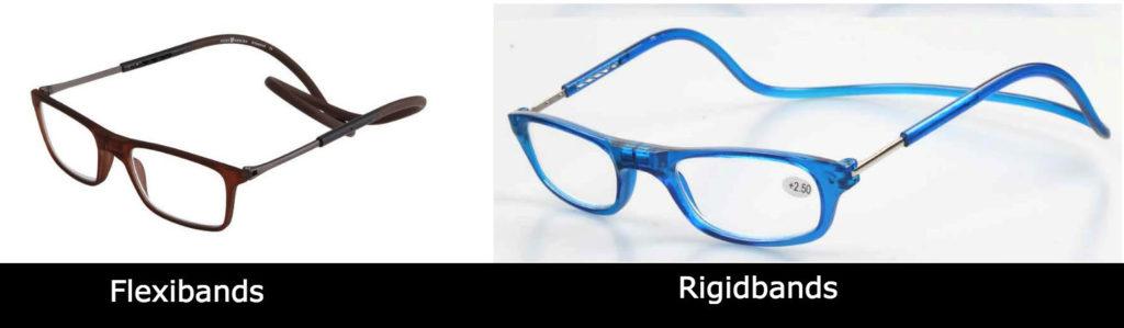 Rigid vs flexible magnetic reading glasses