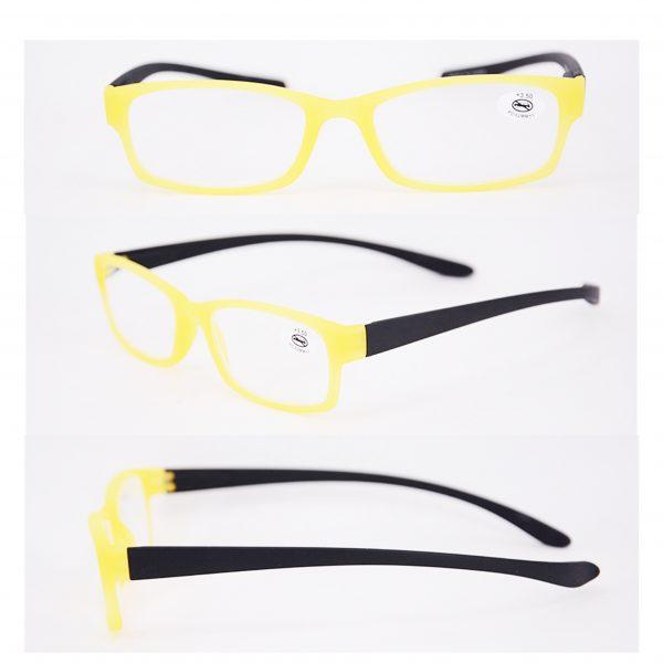 yellow black reading glasses